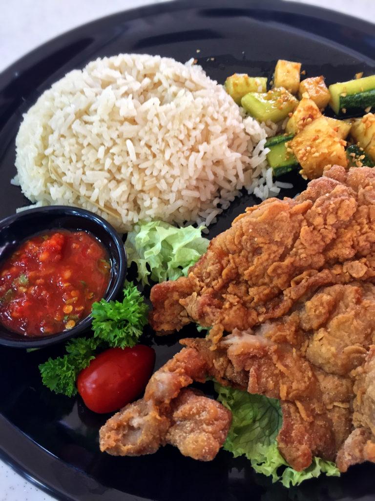 xin long xin prawn paste chicken rice